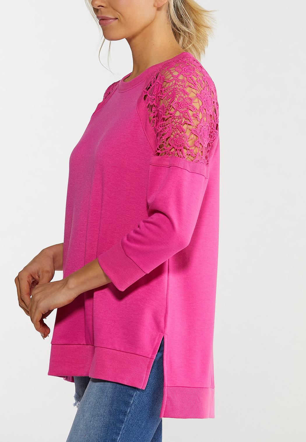 Crochet Sleeve Sweatshirt (Item #44477110)
