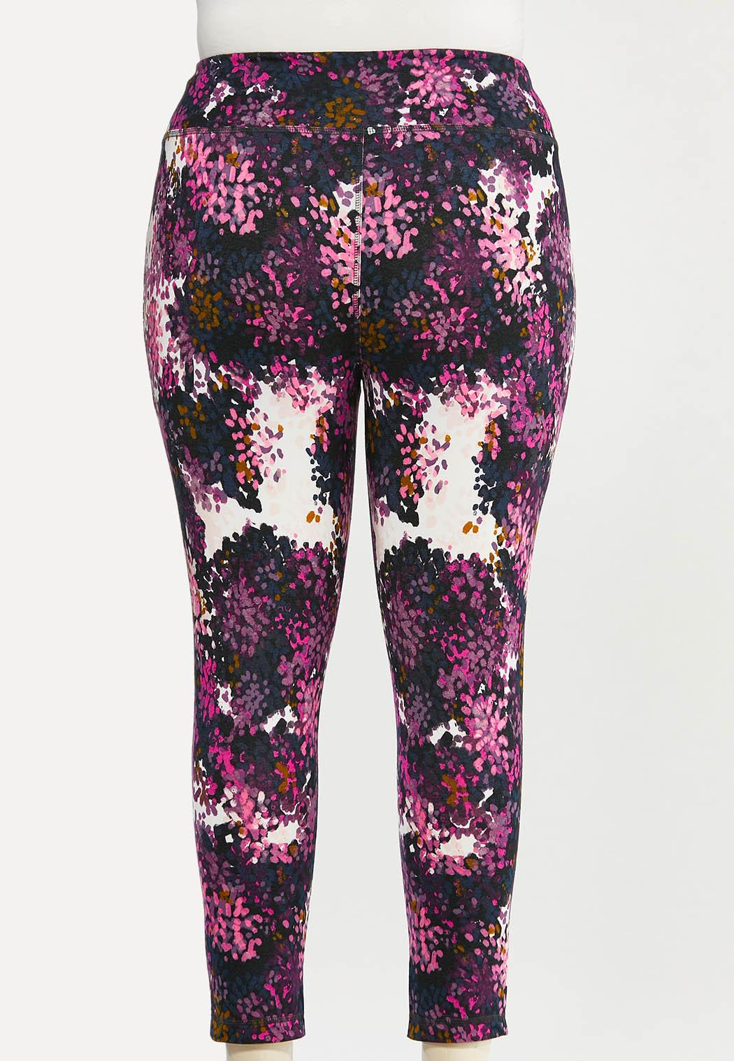 Plus Size Shaded Bloom Leggings (Item #44477278)