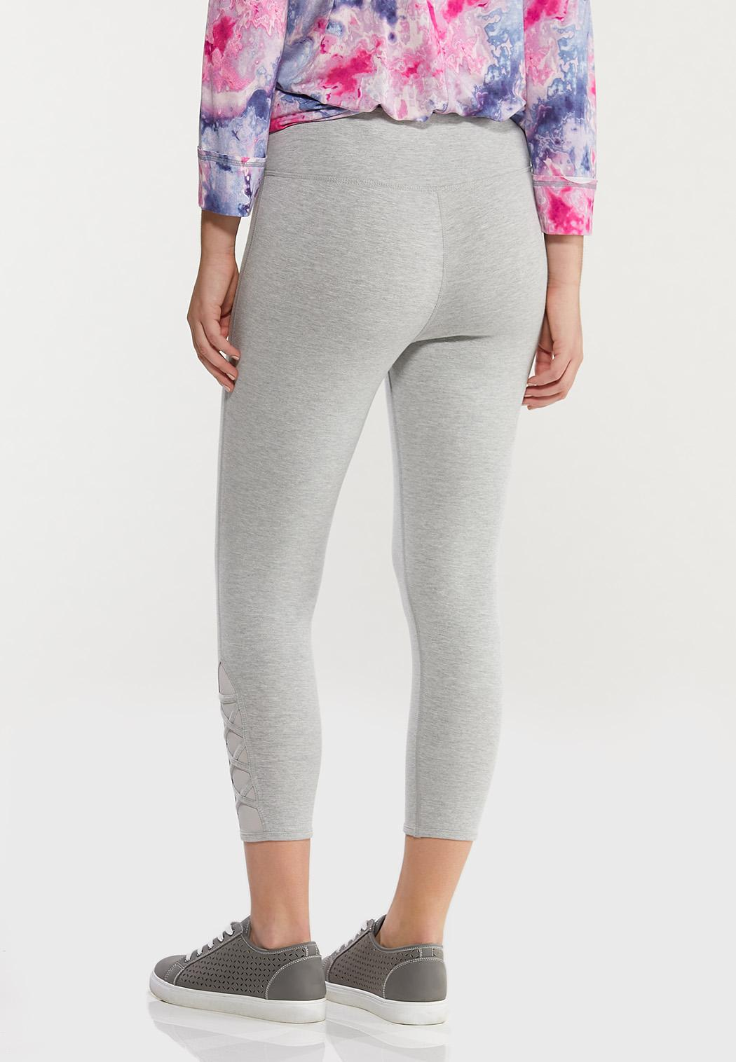 Cropped Criss Cross Leggings (Item #44477336)