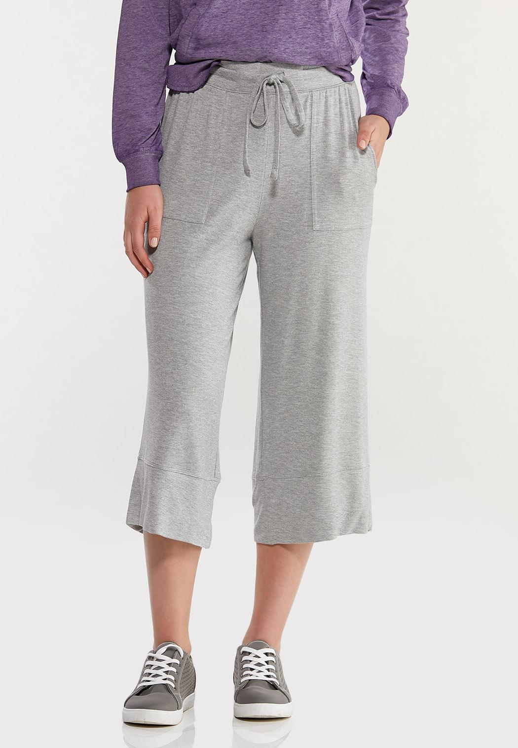 French Terry Wide Leg Pants (Item #44477422)