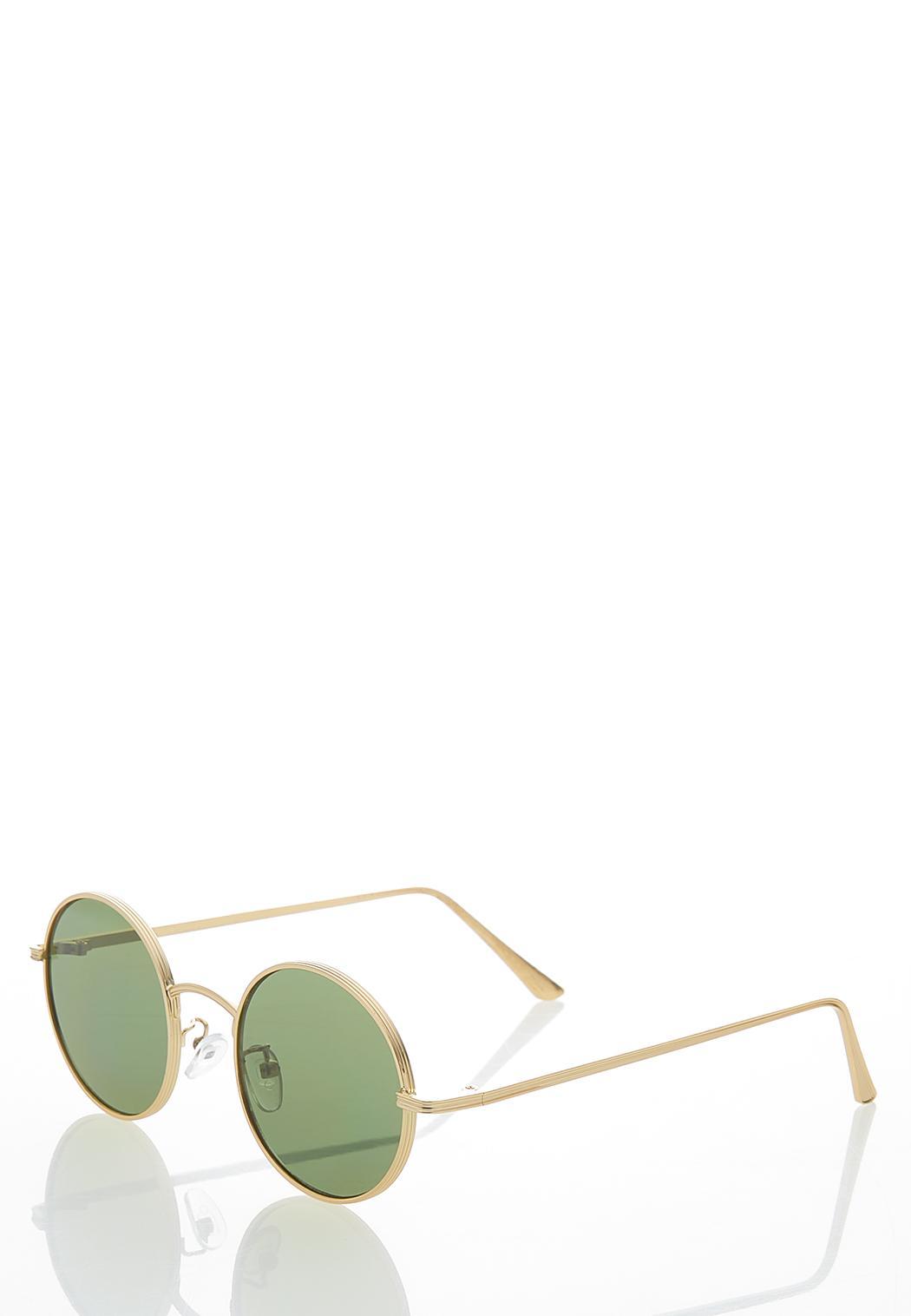 Round Gold Sunglasses (Item #44478970)