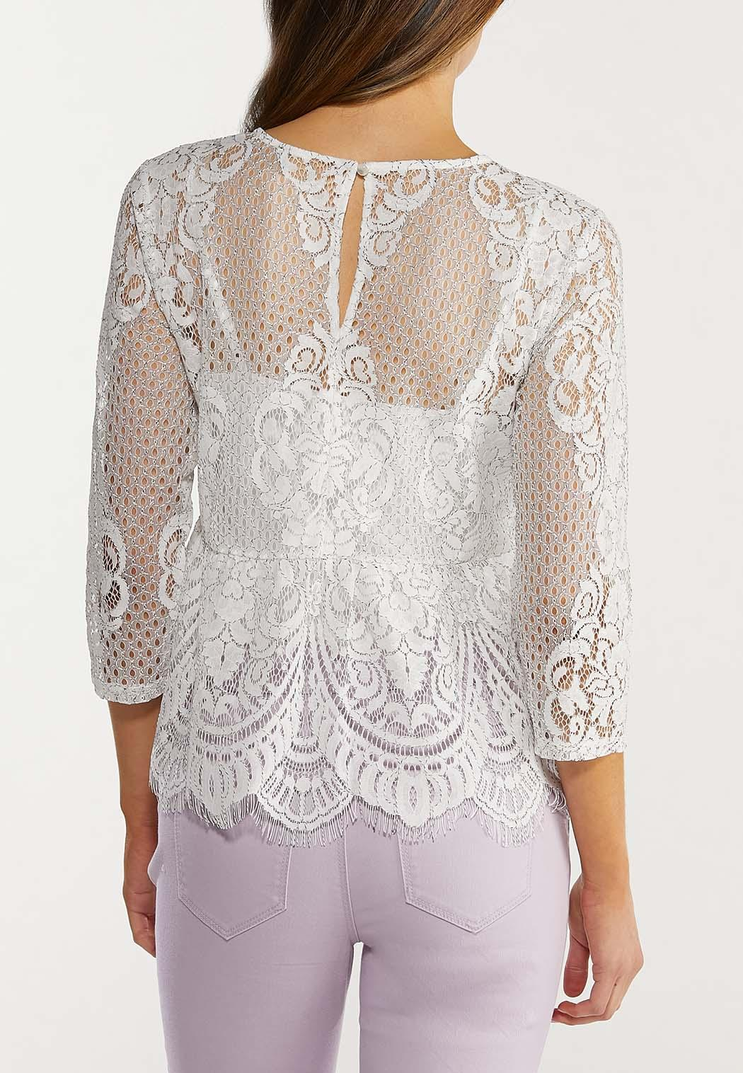 Scalloped Lace Top (Item #44480326)