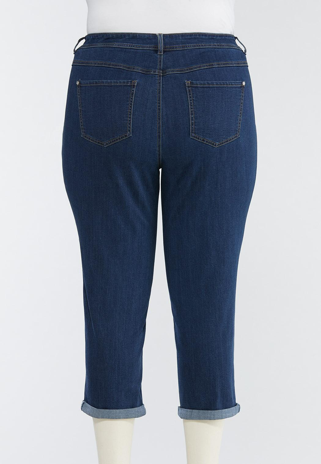 Plus Size Cropped Skinny Jeans (Item #44480358)
