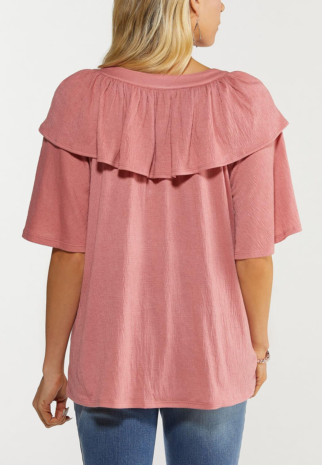 Solid Rose Ruffle Top (Item #44481639)