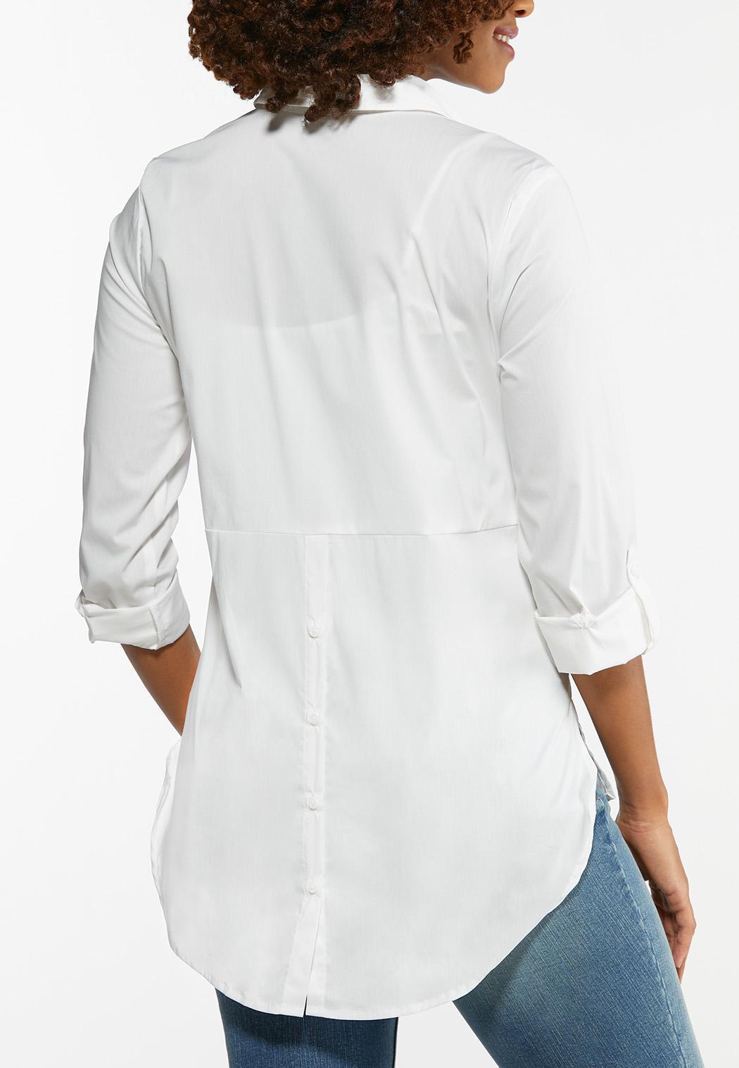 White Button Down Tunic (Item #44486073)