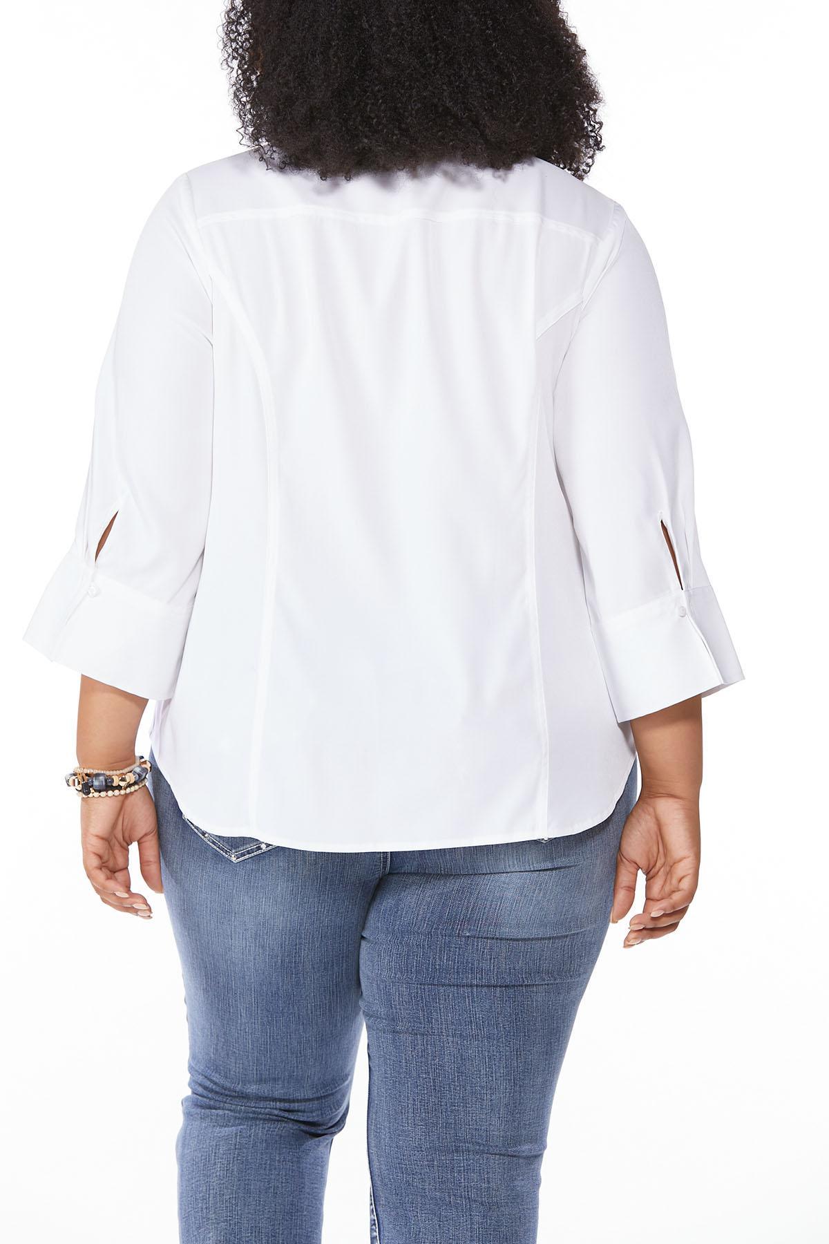 Plus Size Classic Button Down Shirt (Item #44486315)
