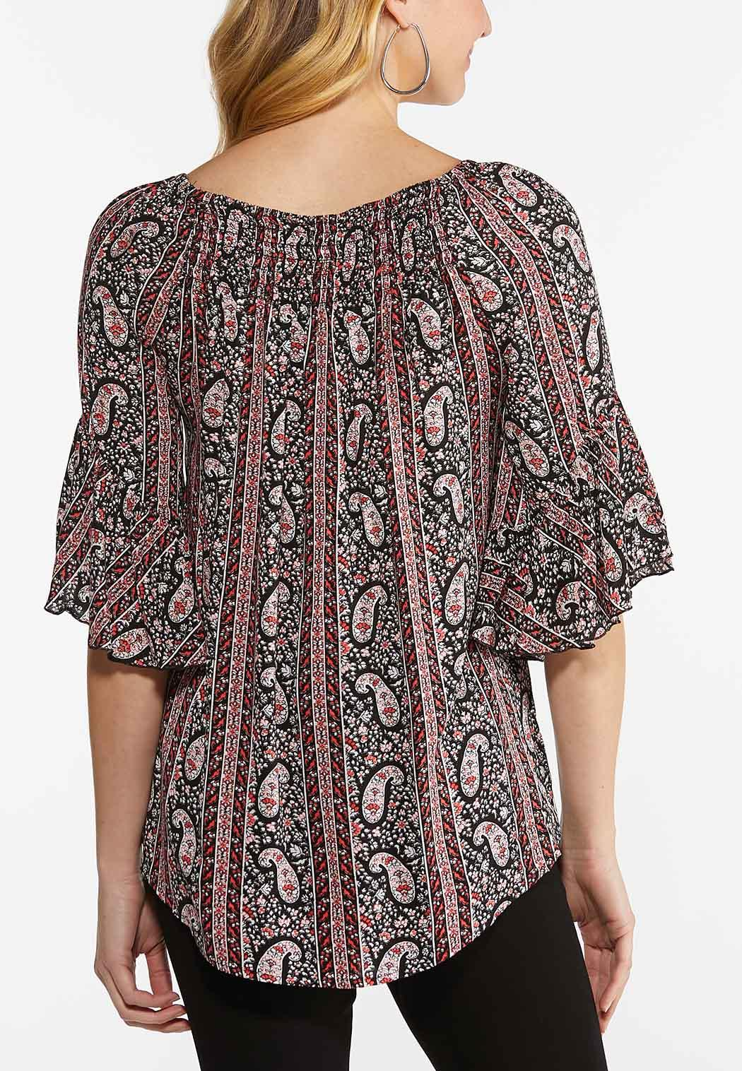 Paisley Boat Neck Top (Item #44486632)