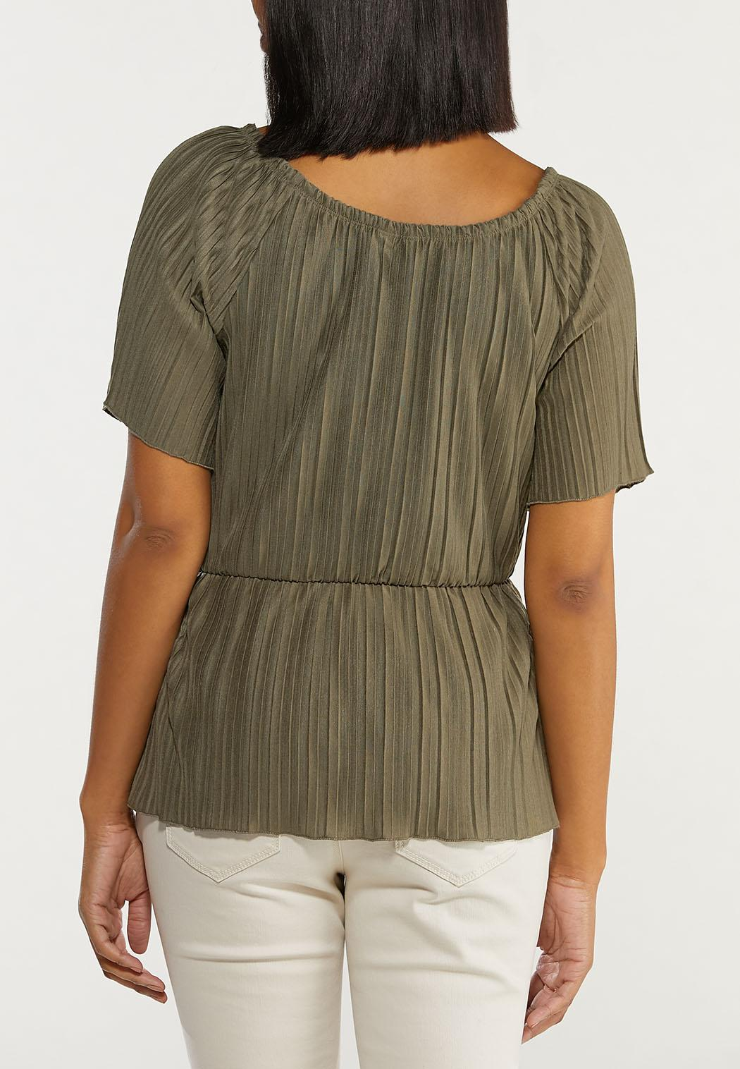 Pleated Peplum Top (Item #44486839)