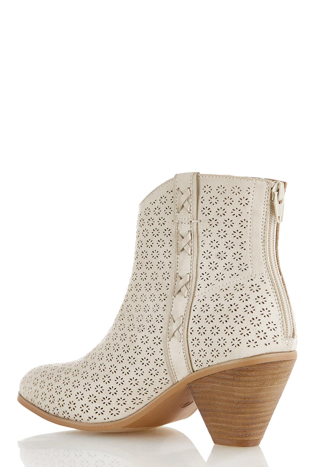 Cutout Western Ankle Boots (Item #44487788)