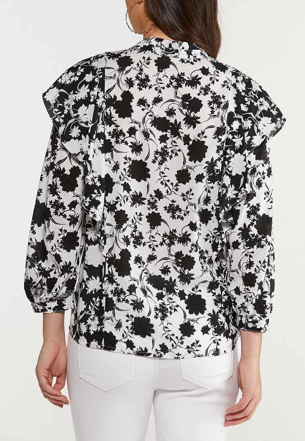 Plus Size Floral Ruffled Top (Item #44488154)