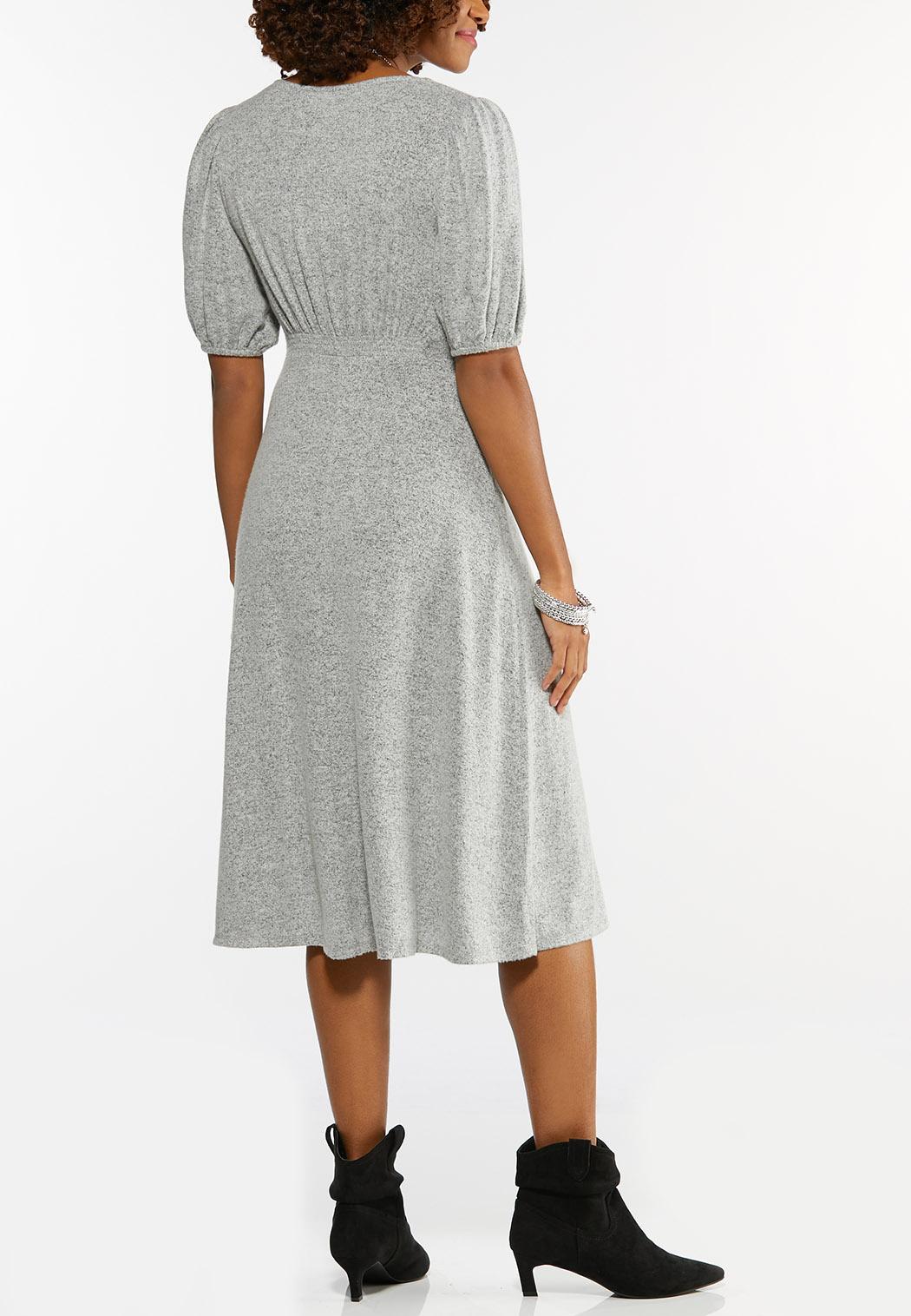 Gray Balloon Sleeve Dress (Item #44488810)