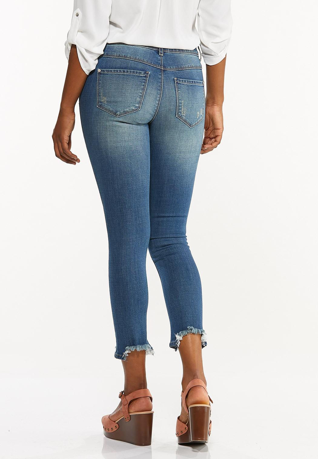 Distressed Embroidered Jeans (Item #44489055)