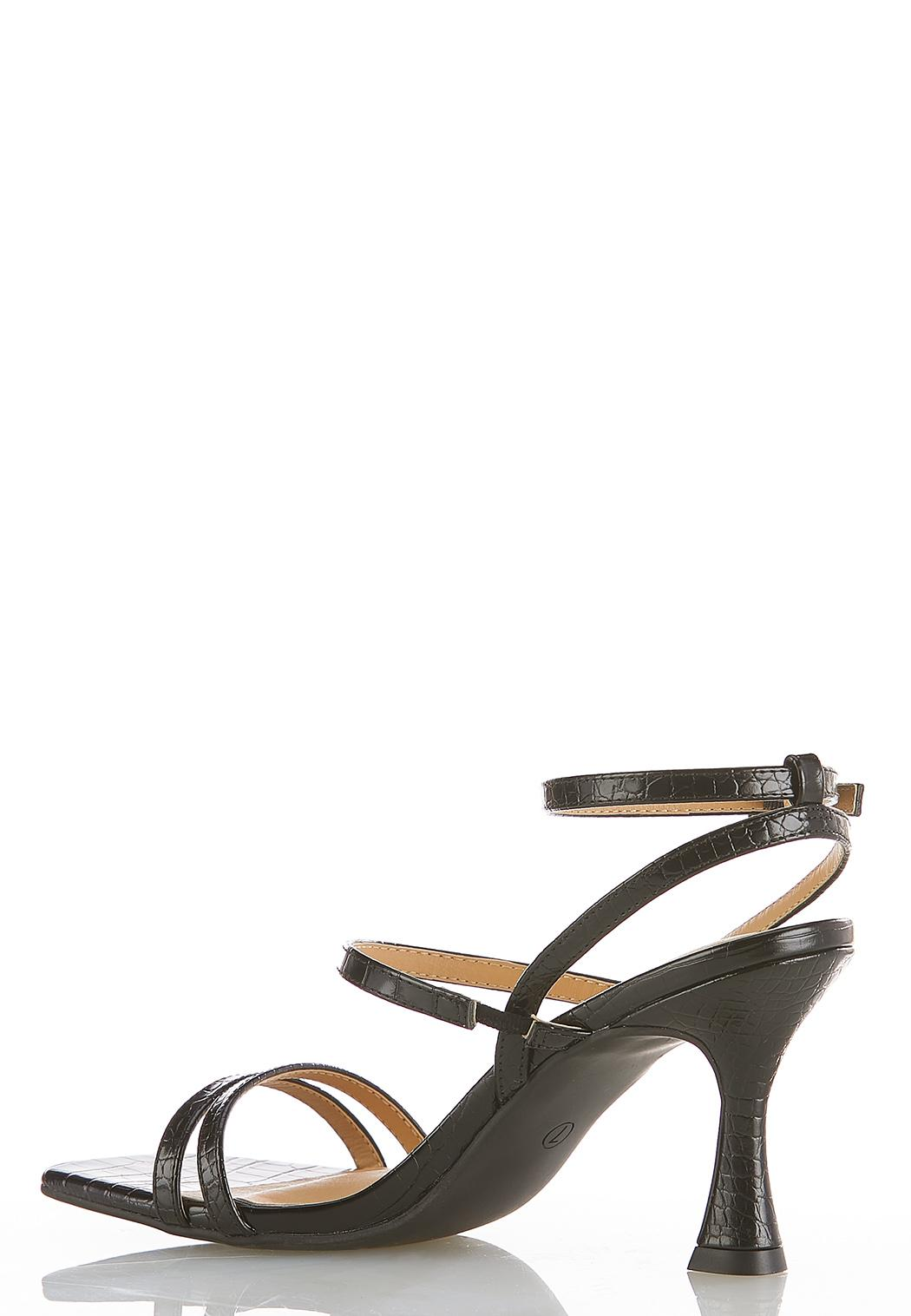 Wide Width Strappy Heeled Sandals (Item #44489211)