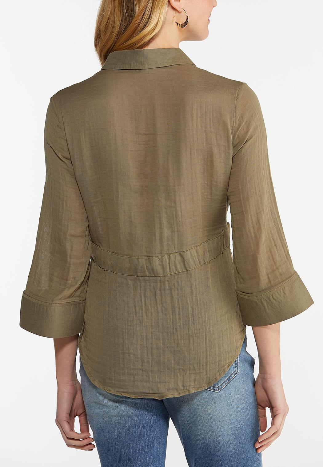 Green Tie Waist Shirt (Item #44489571)