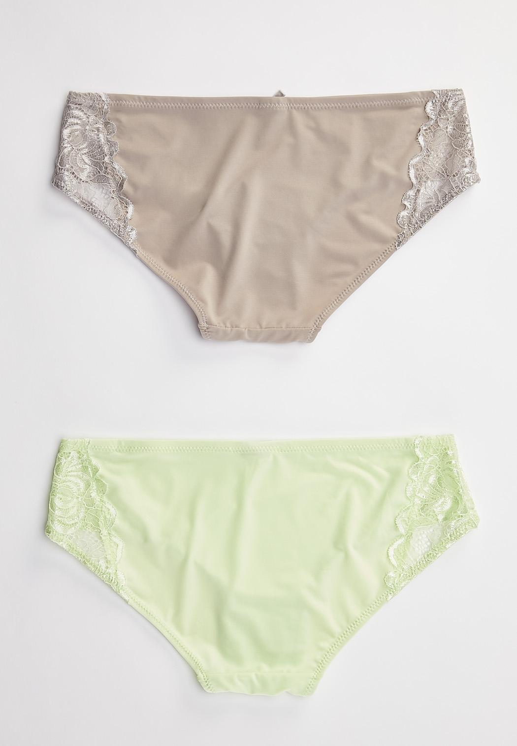 Gray And Green Lace Panty Set (Item #44490696)