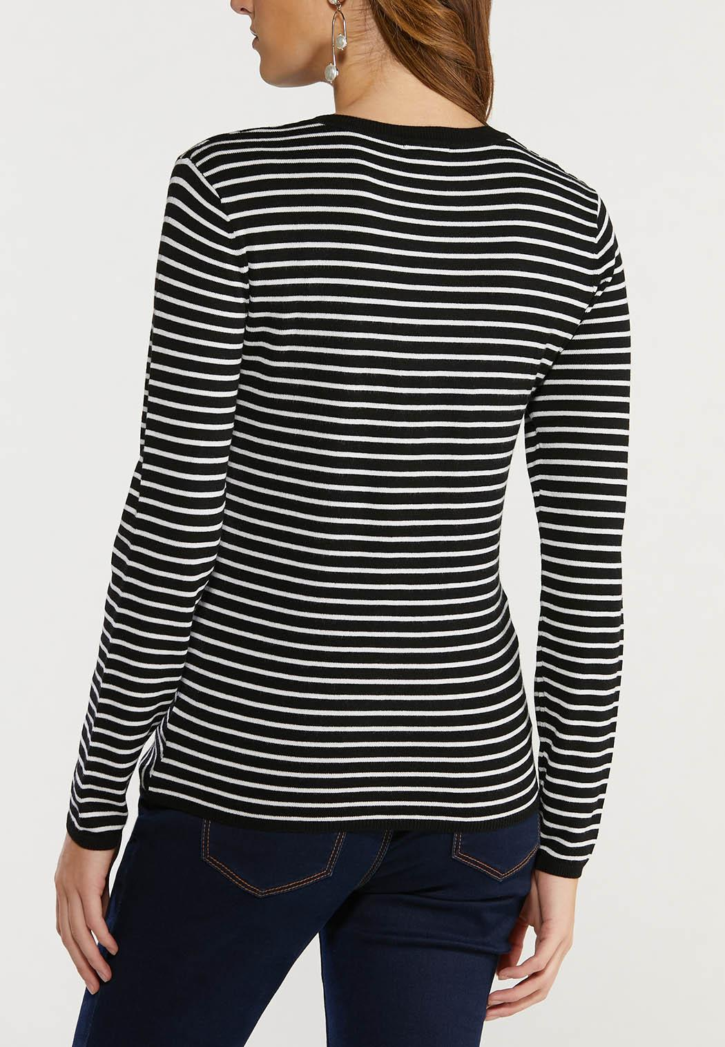 Contrast Stripe Sweater (Item #44492105)