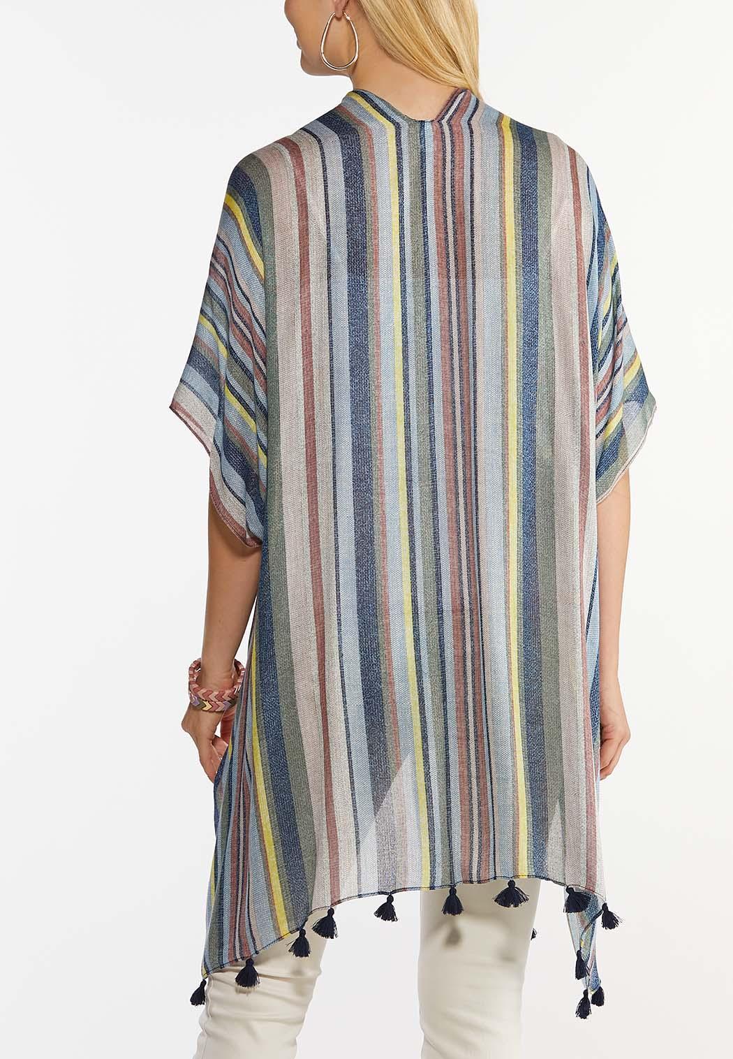 Stripe Tasseled Kimono (Item #44492317)