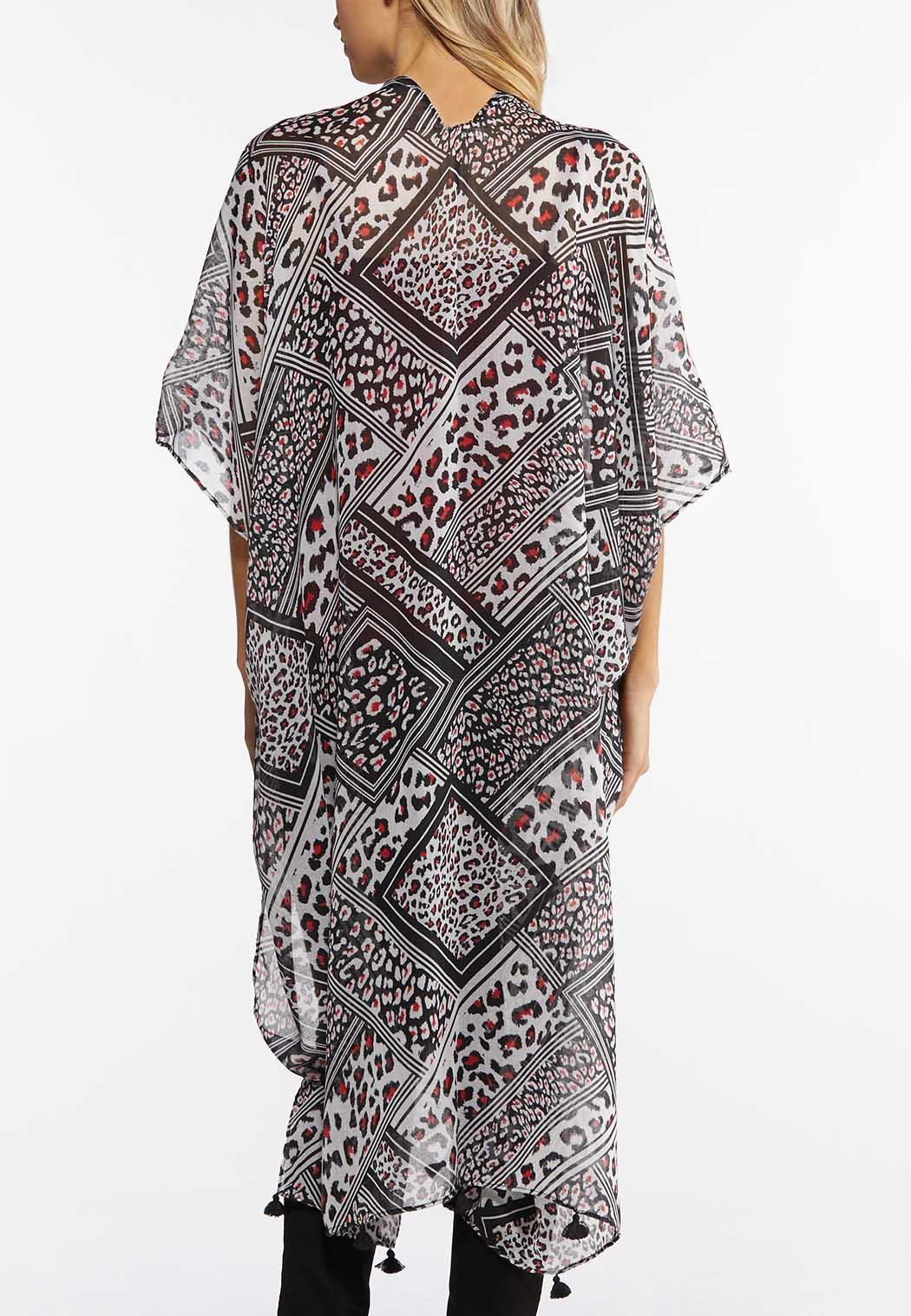 Leopard Mixed Print Kimono (Item #44492320)