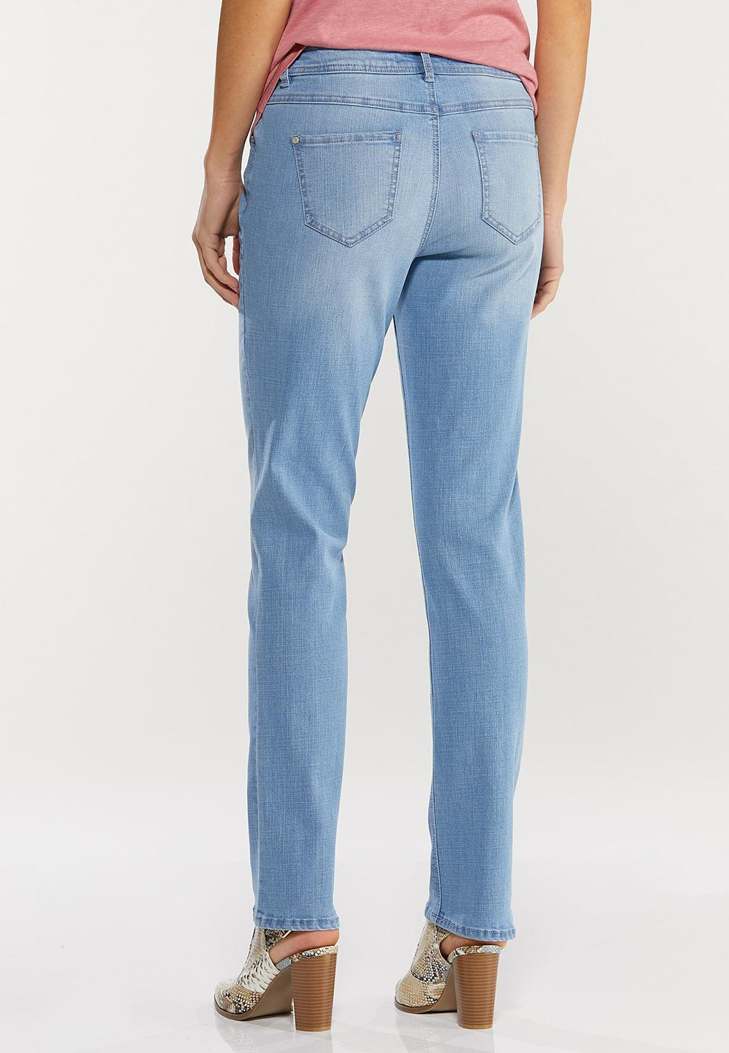 Shape Enhancing Straight Leg Jeans (Item #44492364)