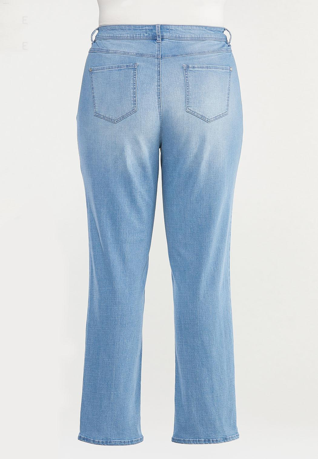 Plus Size Shape Enhancing Straight Leg Jeans (Item #44492505)