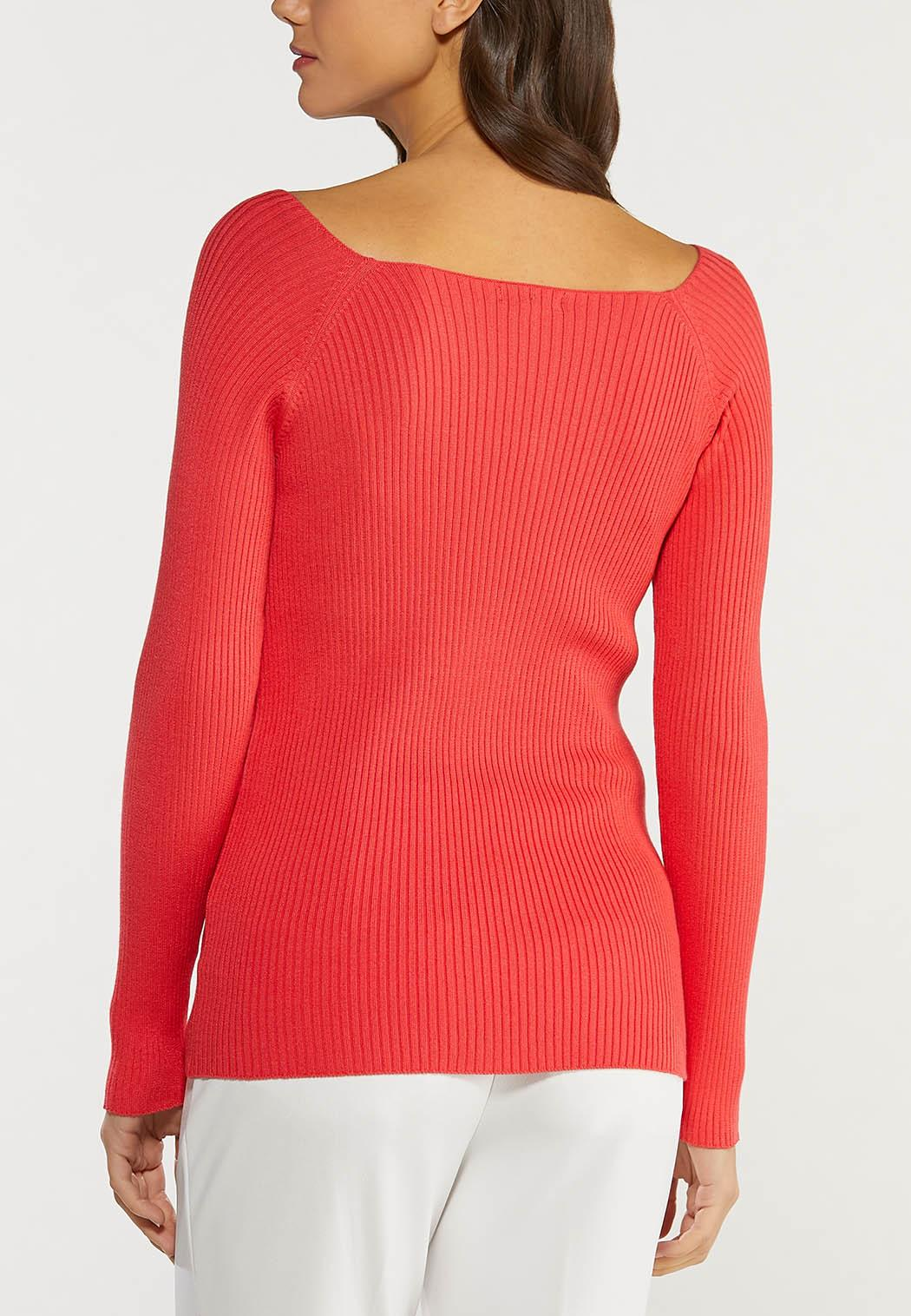 Plus Size Boat Neck Sweater (Item #44492753)