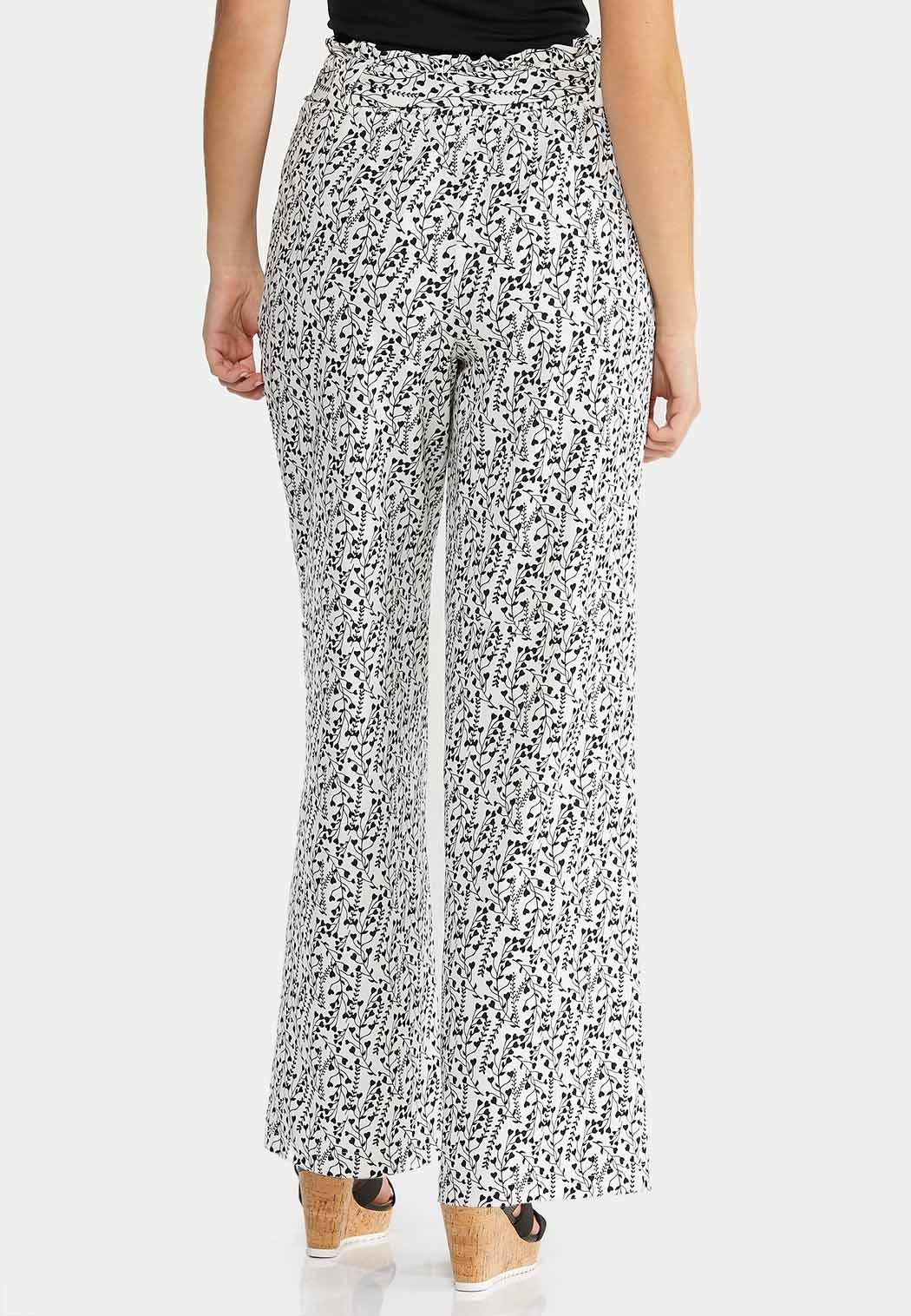 Petite Belted Heart Floral Pants (Item #44492998)