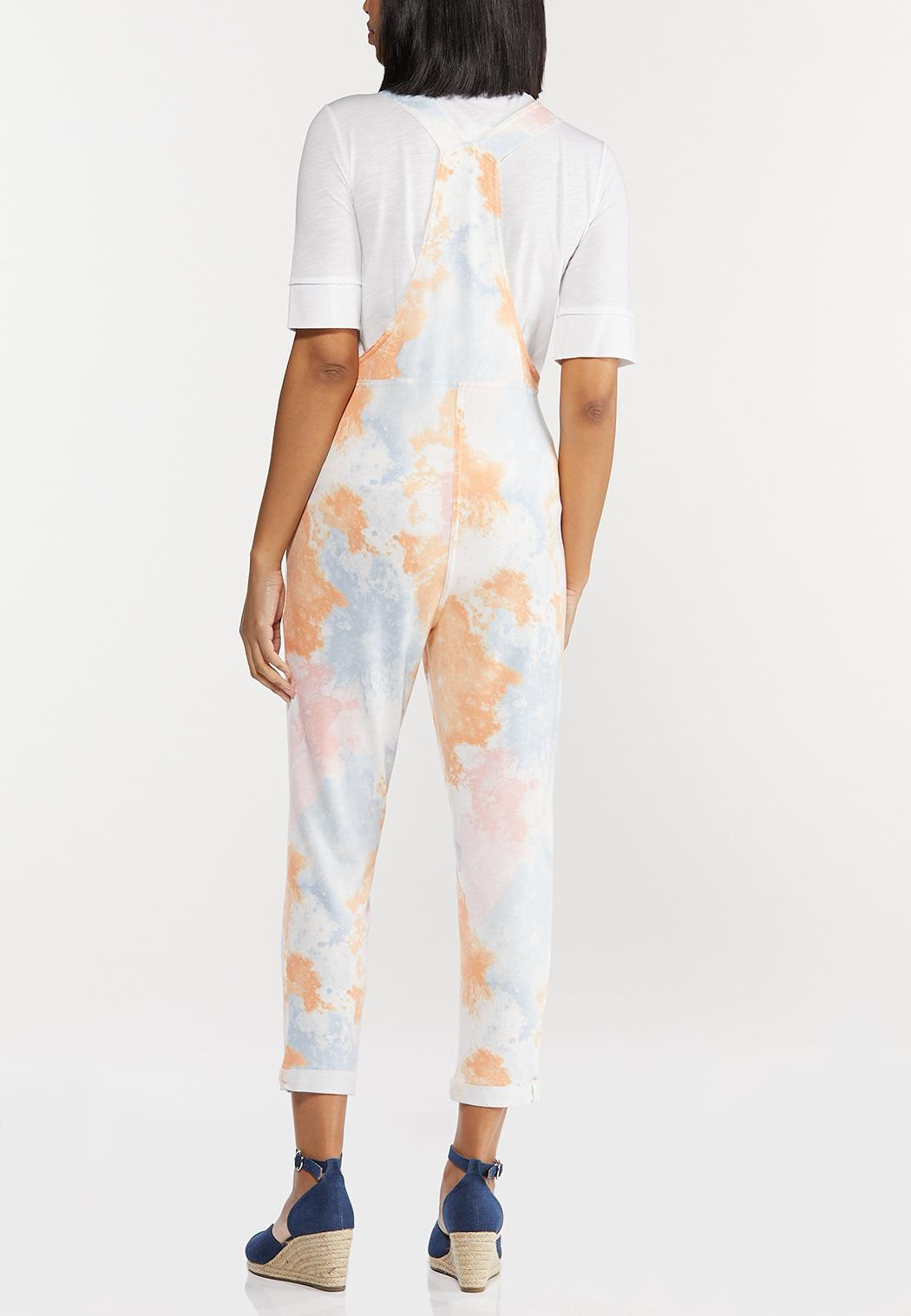 Cropped Tie Dye Overalls (Item #44493164)