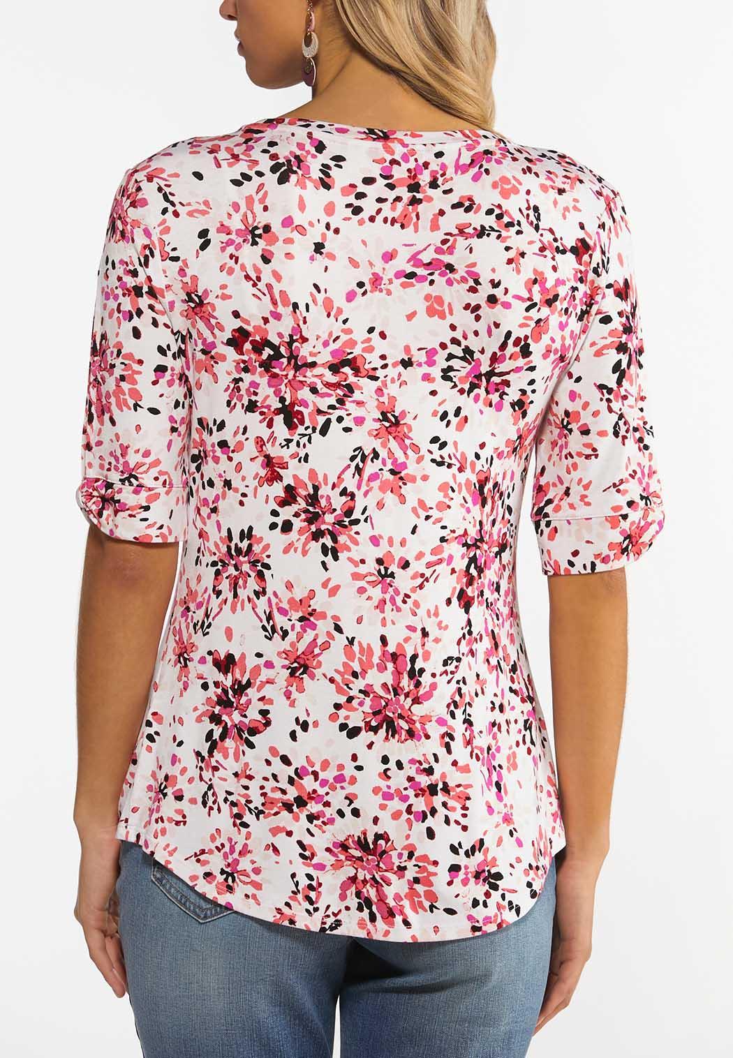 Plus Size Fresh Floral Top (Item #44493180)