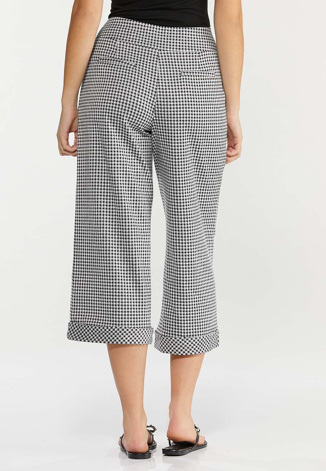 Cropped Gingham Pants (Item #44493307)