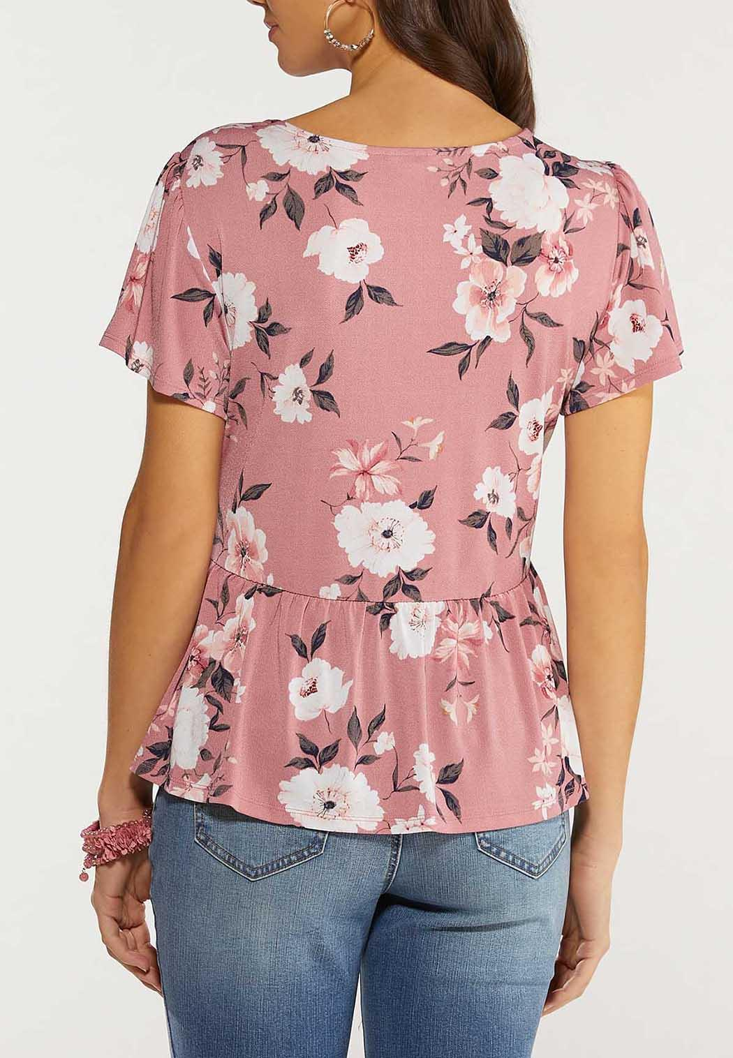 Plus Size Blossom Peplum Top (Item #44495486)
