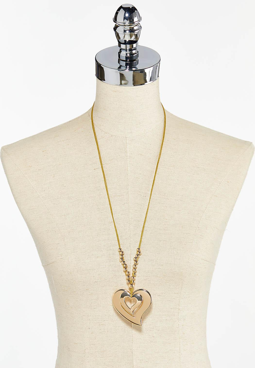Beaded Heart Cord Necklace (Item #44495681)