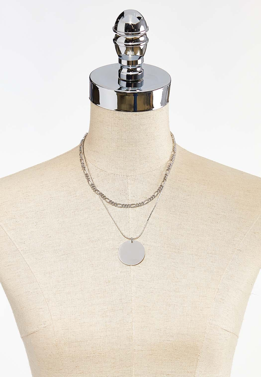 Short Layered Disc Necklace (Item #44495809)