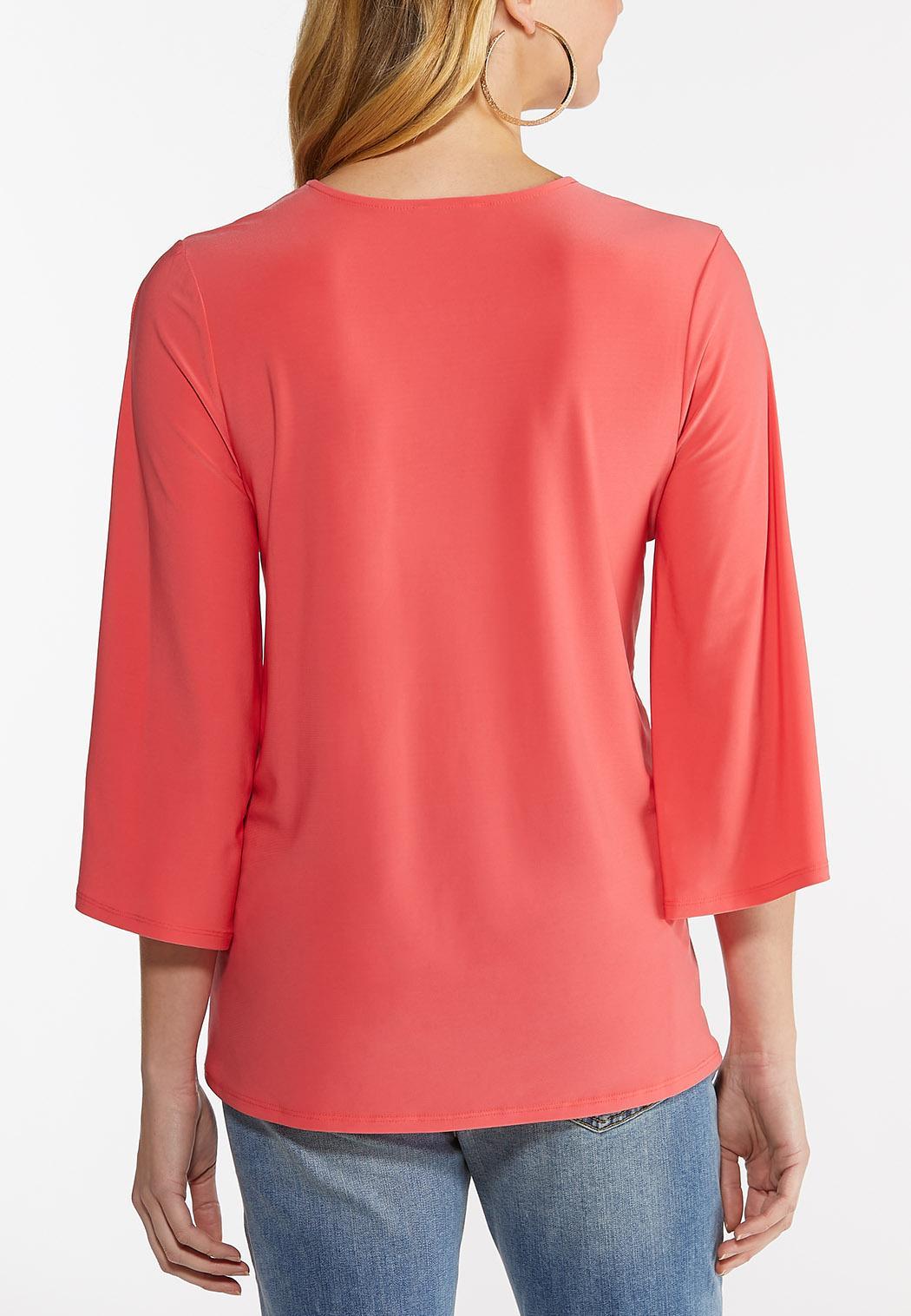 Embellished Coral Tunic (Item #44495979)