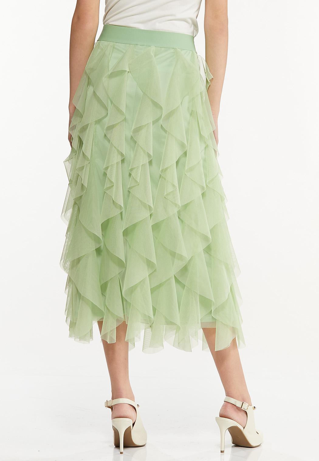 Ruffled Mesh Skirt (Item #44497075)