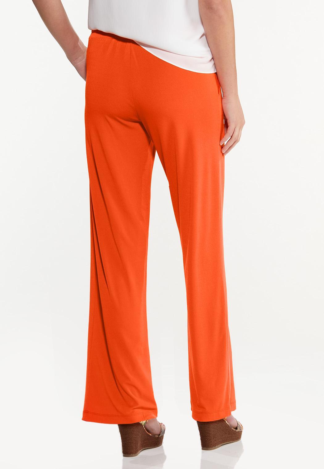Petite Solid High-Rise Pants (Item #44497425)