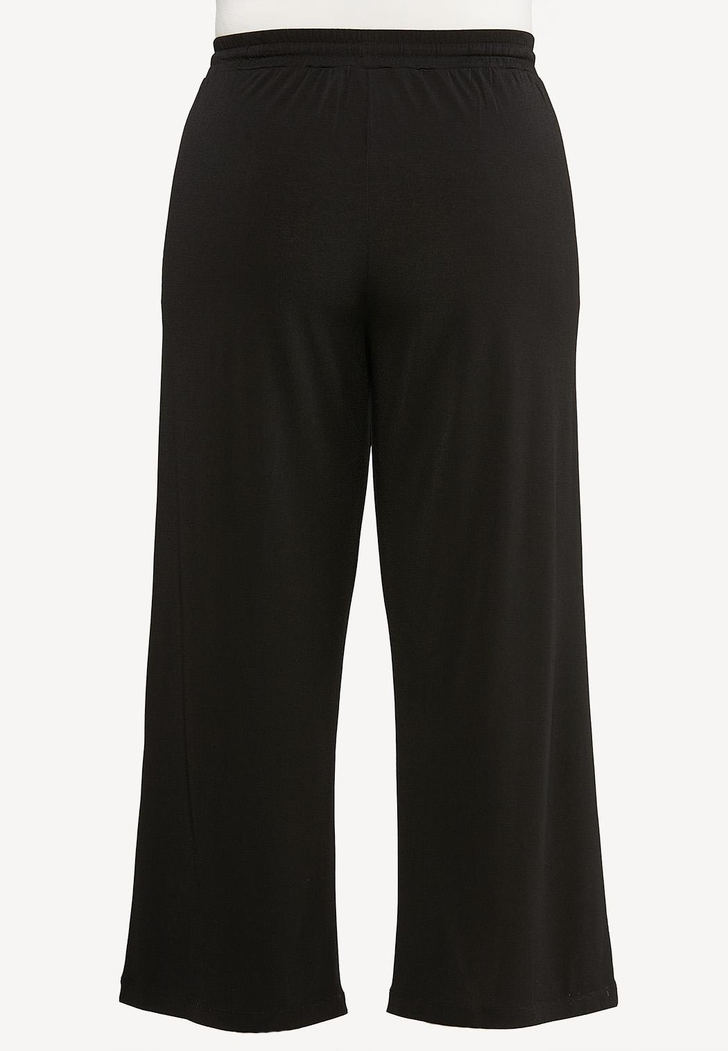 Plus Petite Solid High-Rise Pants (Item #44497950)