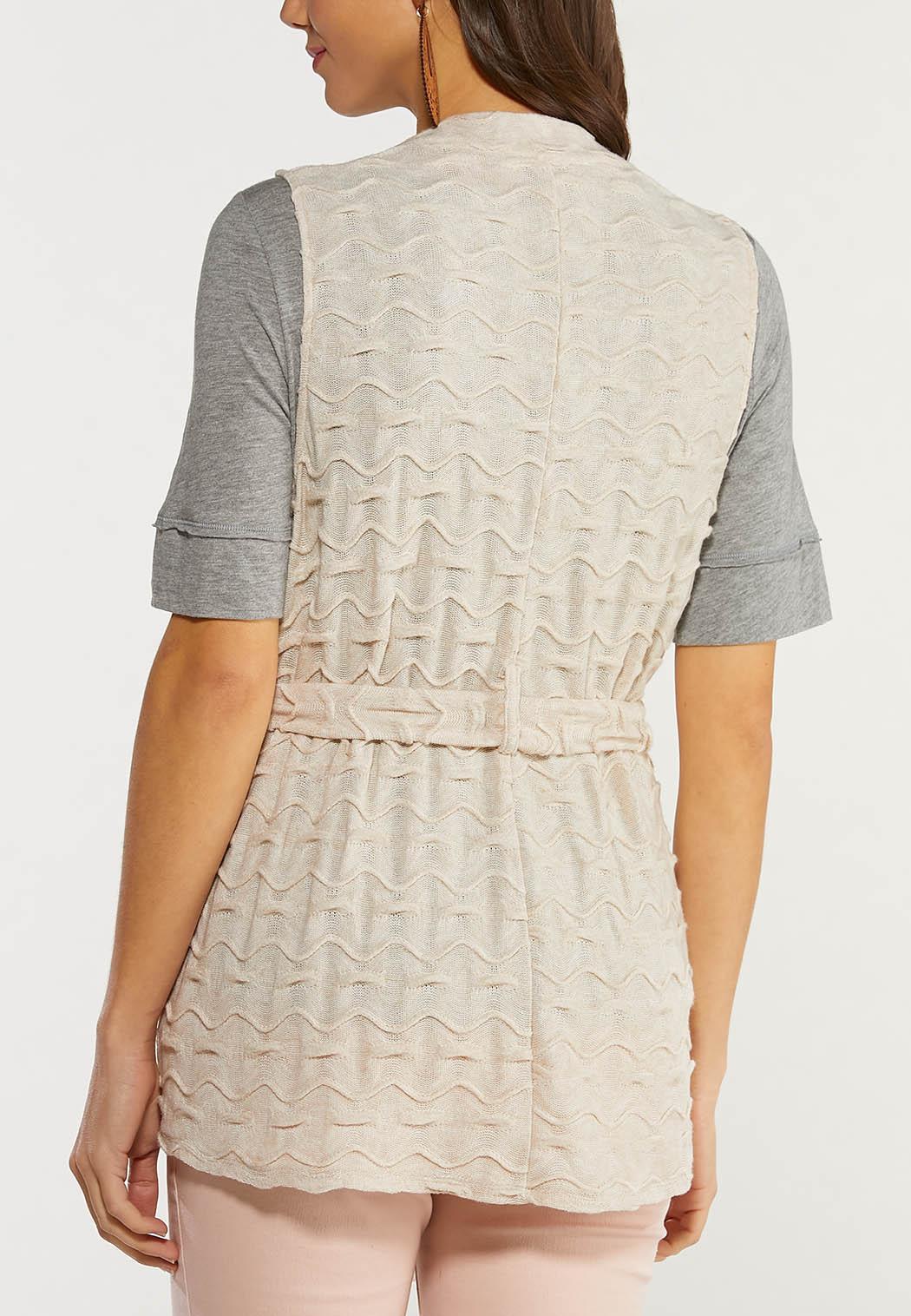 Textured Belted Vest (Item #44499647)