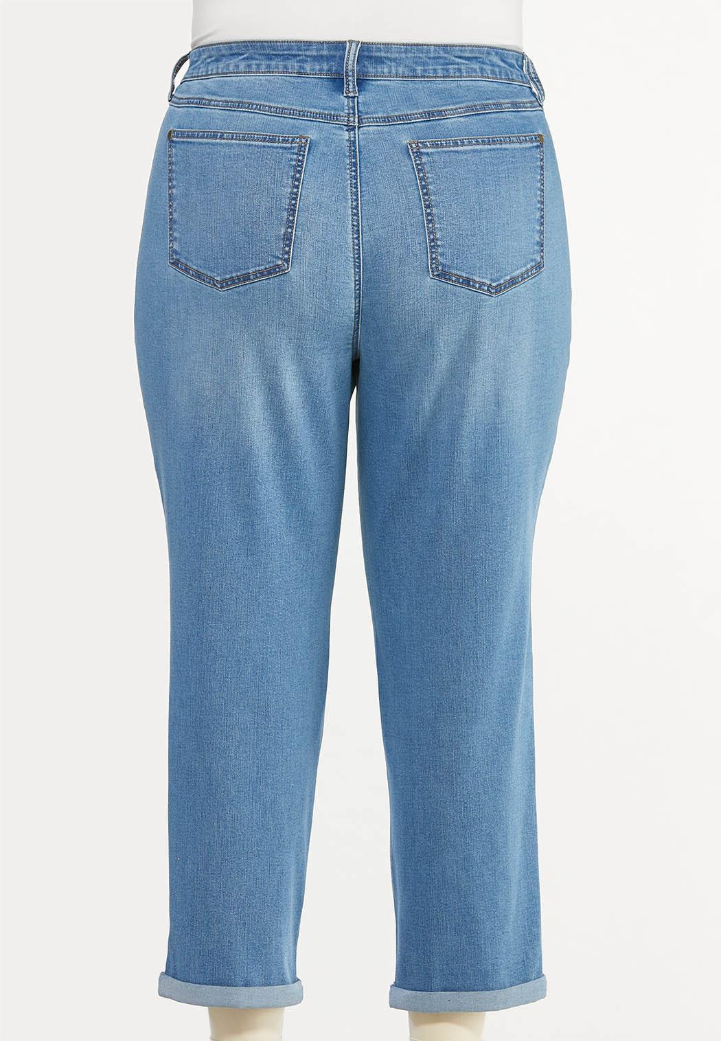 Plus Size Casual Boyfriend Jeans (Item #44500116)