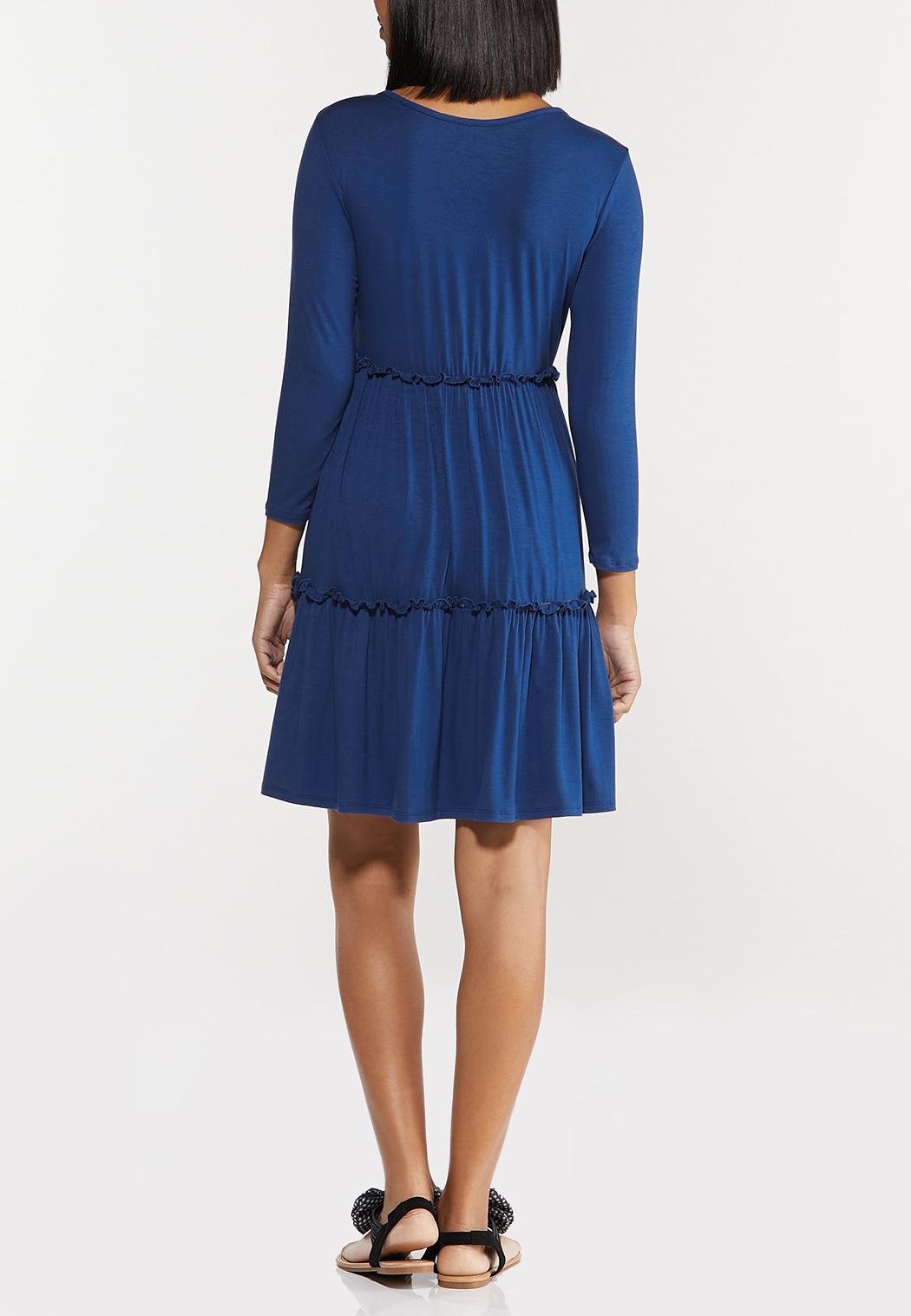 Blue Ruffled Babydoll Dress (Item #44500273)