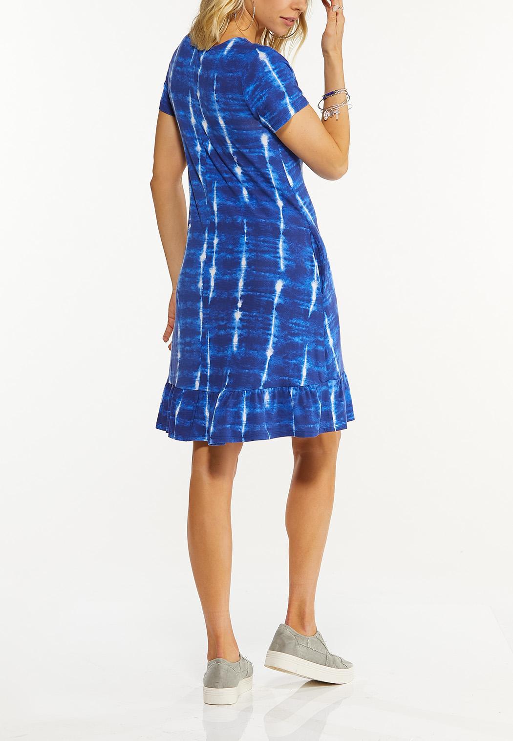 Tie Dye Ruffle Hem Dress (Item #44500392)