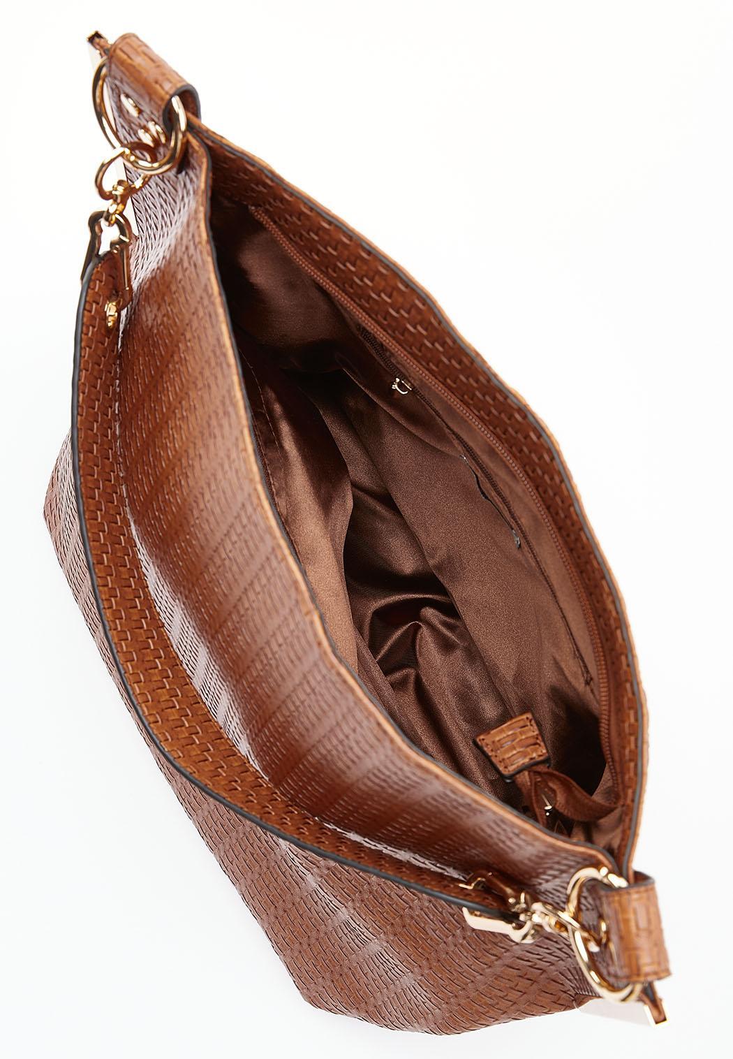 Woven Effect Hobo Handbag (Item #44500545)