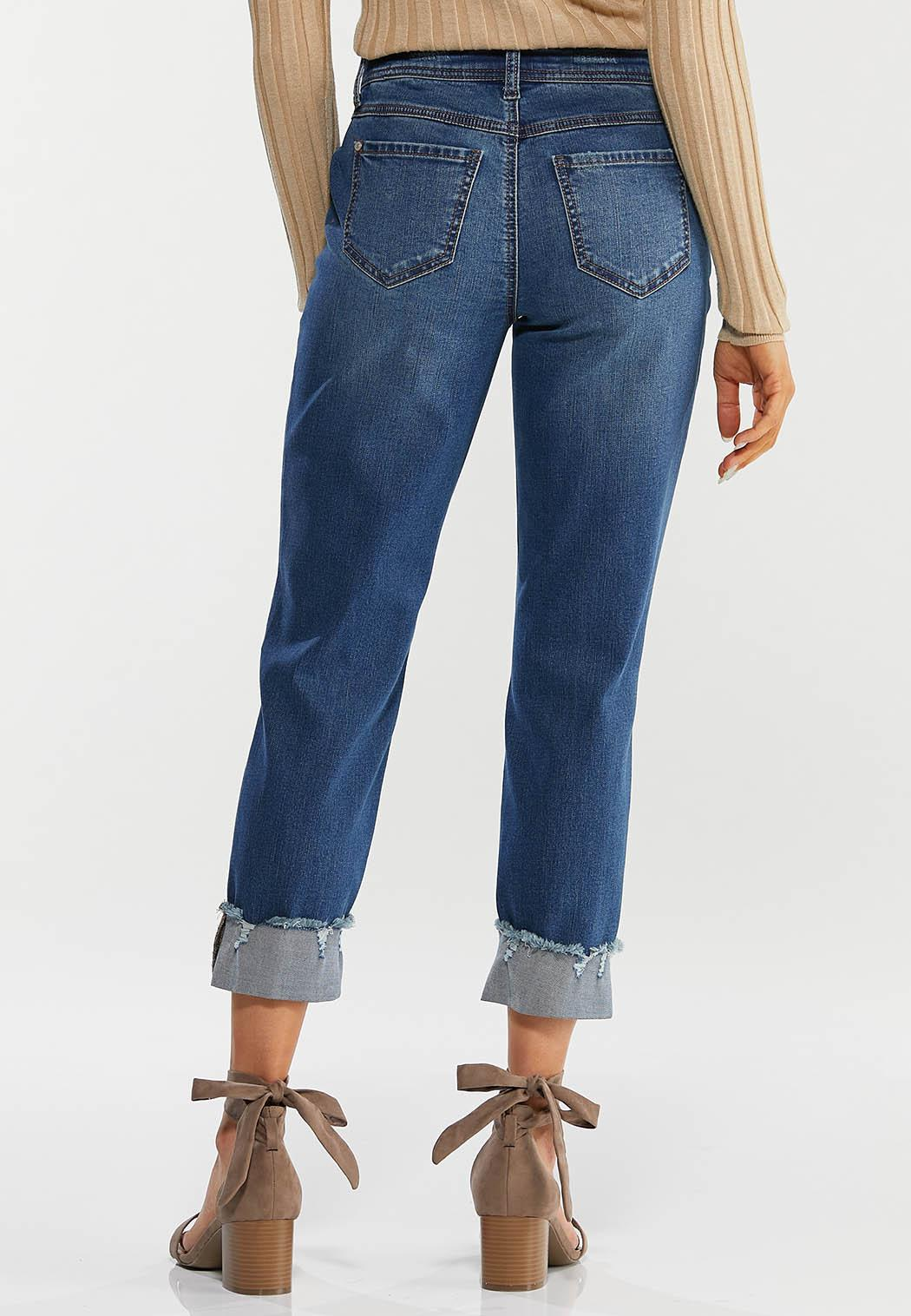 Cropped Distressed Jeans (Item #44500560)