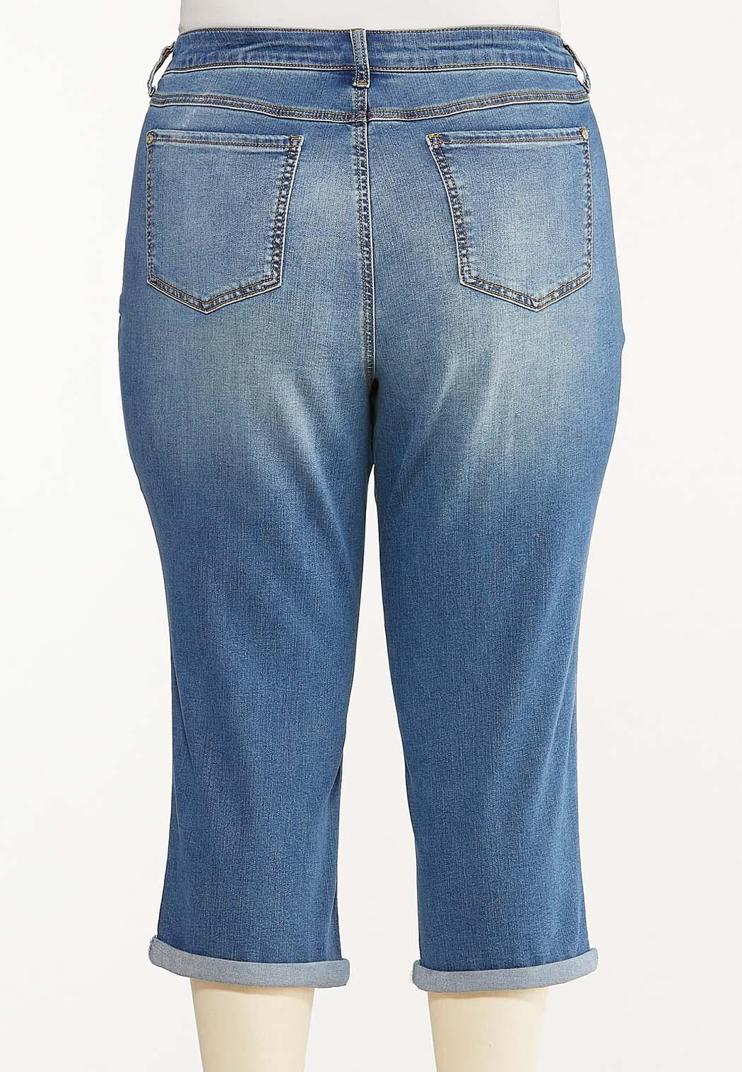 Plus Size Curvy Cropped Skinny Jeans (Item #44500668)