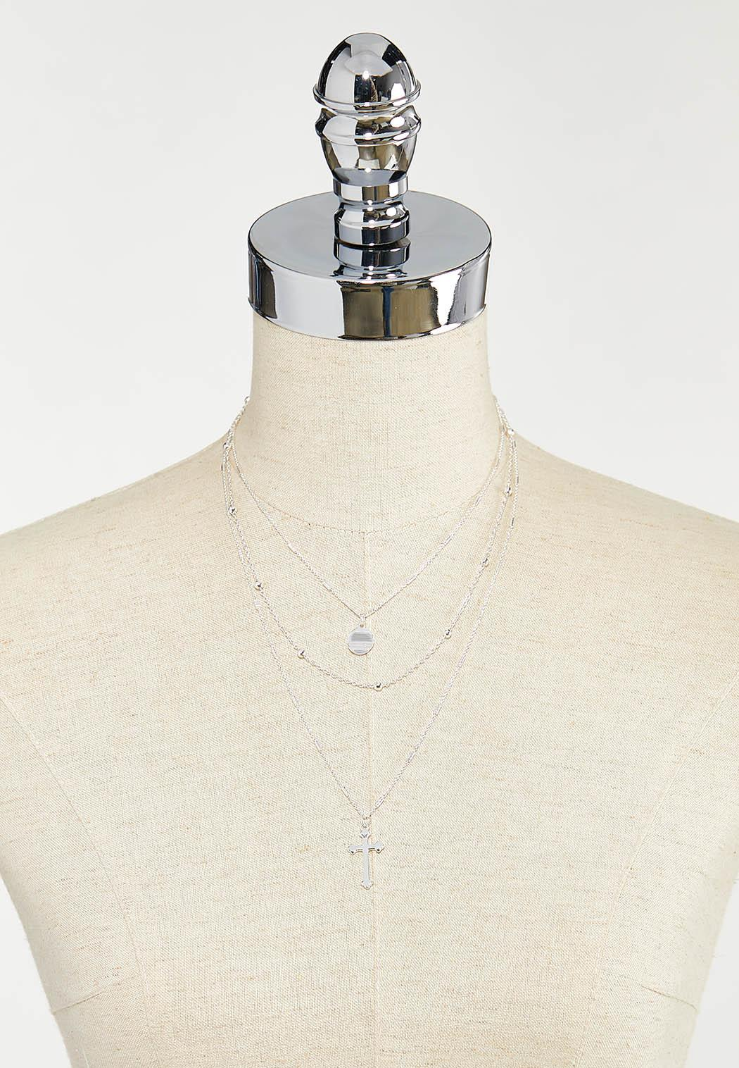 Delicate Cross Layered Necklace (Item #44501391)