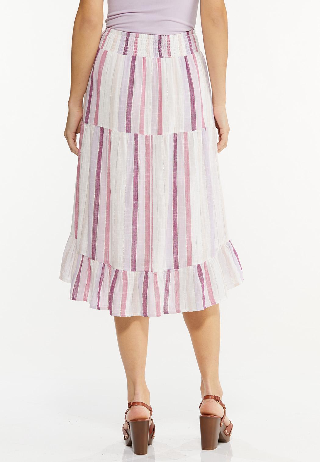 Berry Stripe Midi Skirt (Item #44501763)