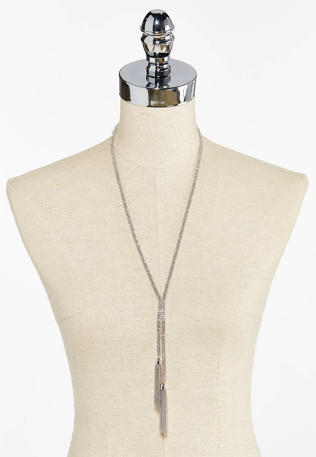 Double Chain Tassel Necklace (Item #44501840)