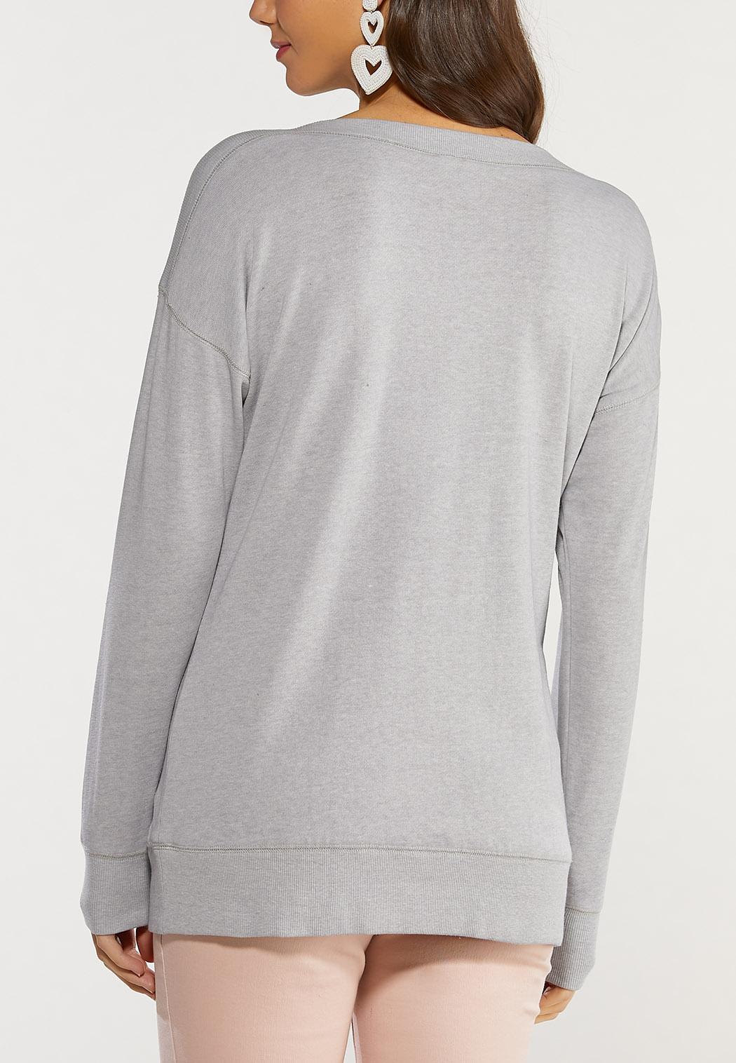 Plus Size Love Yourself Sweatshirt (Item #44501885)