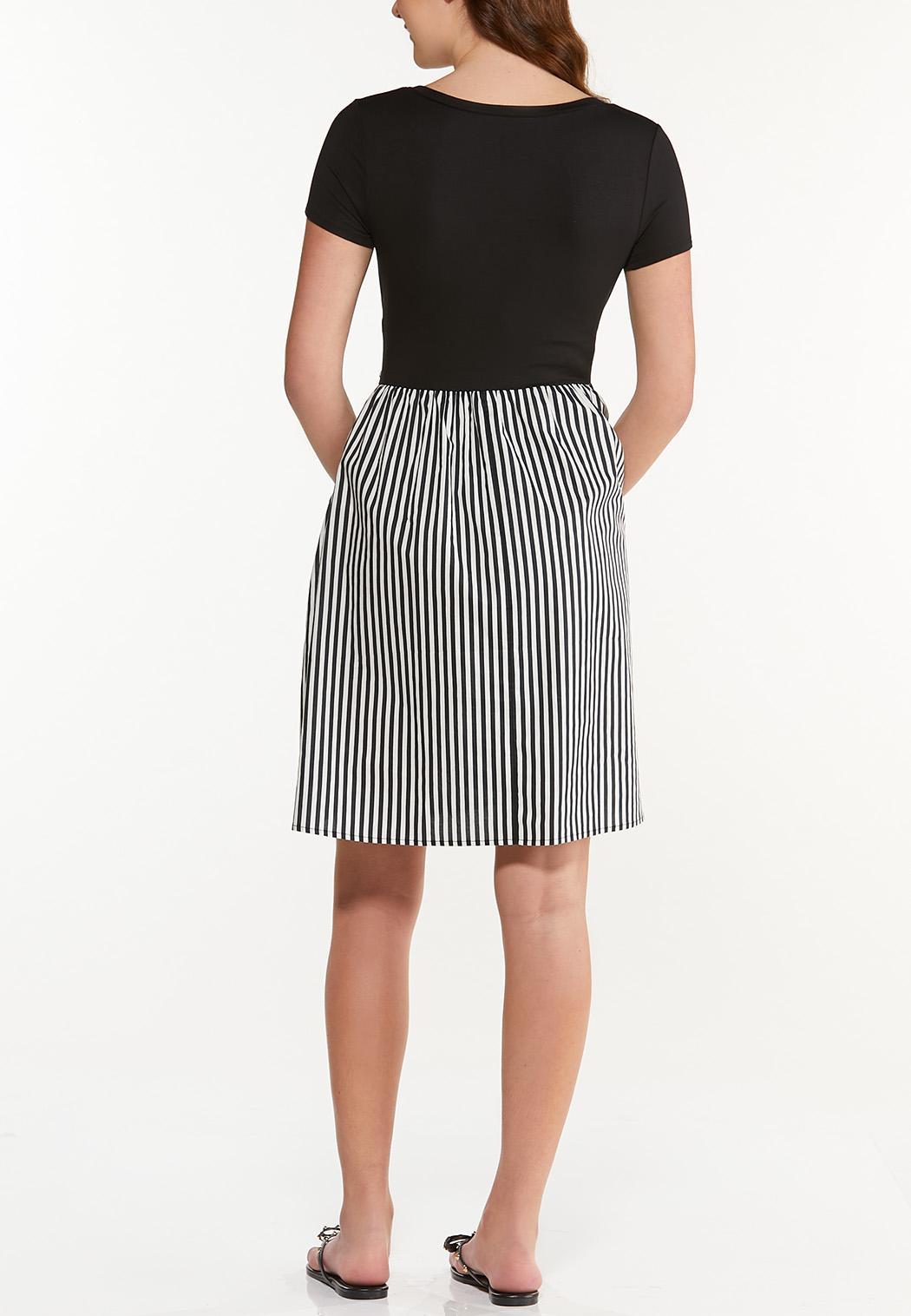 Solid Stripe Tie Dress (Item #44501903)