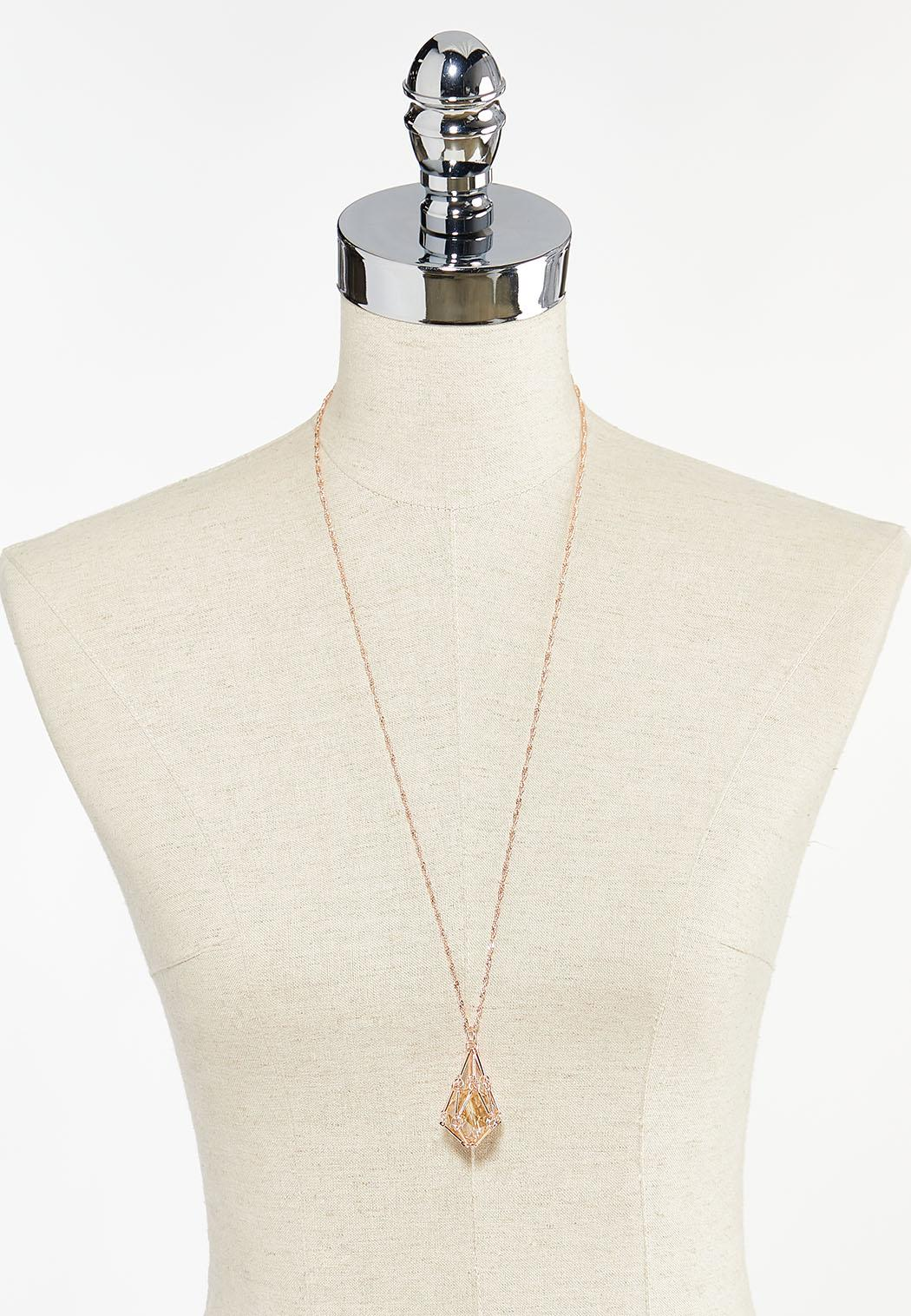 Caged Bead Pendant Necklace (Item #44501975)