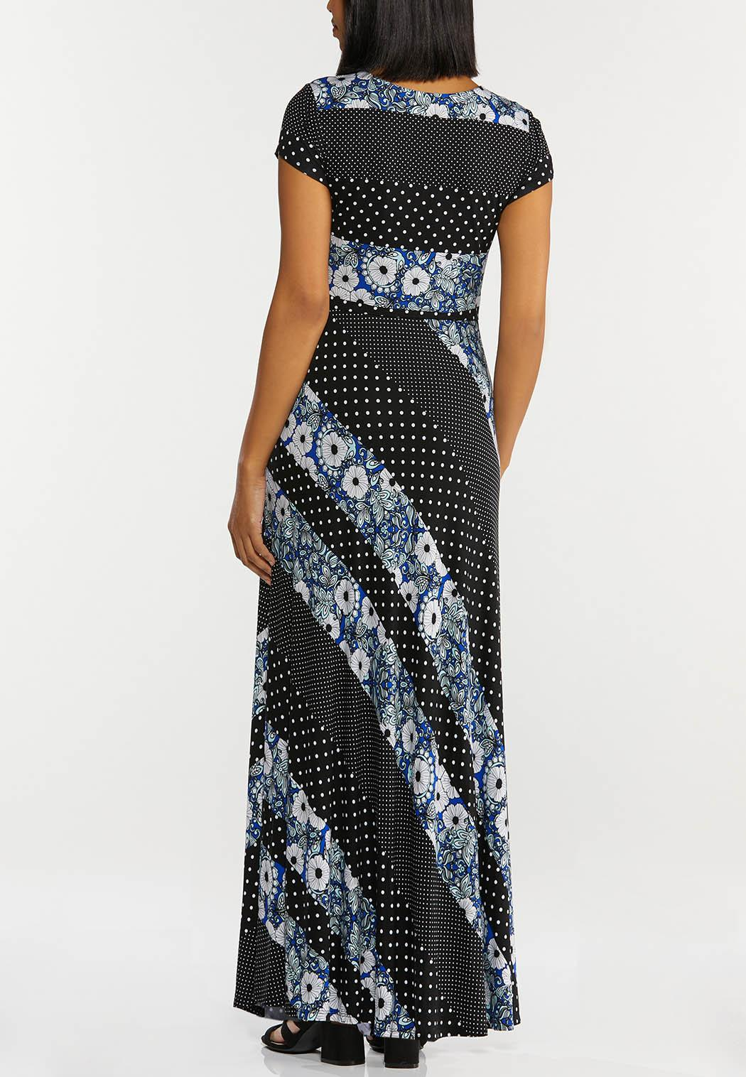 Petite Mixed Print Maxi Dress (Item #44501999)
